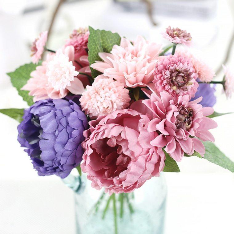 arreglos florales-coloridos-bodas-modernas