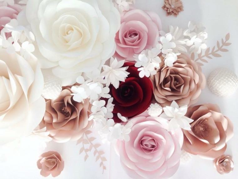 arreglos florales-rosas-colores-bodas