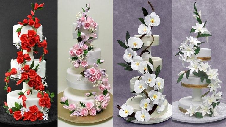 arreglos florales sencillos-bodas-tartas