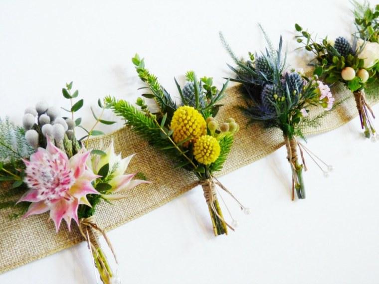 arreglos florales-variados-decorar-bodas
