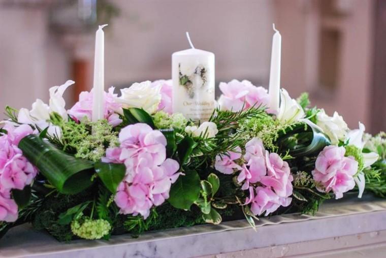 arreglos florales-velas-decorar-bodas