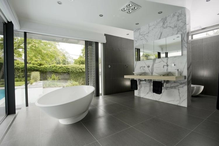 baños modernos division marmol