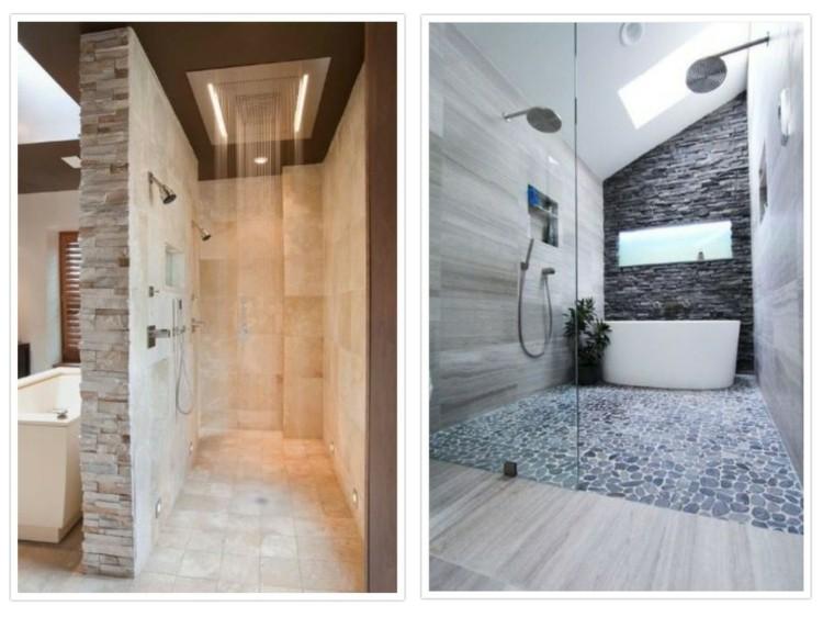 baños modernos efectos grises