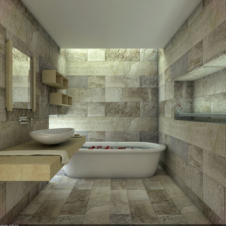 baños modernos efectos luces