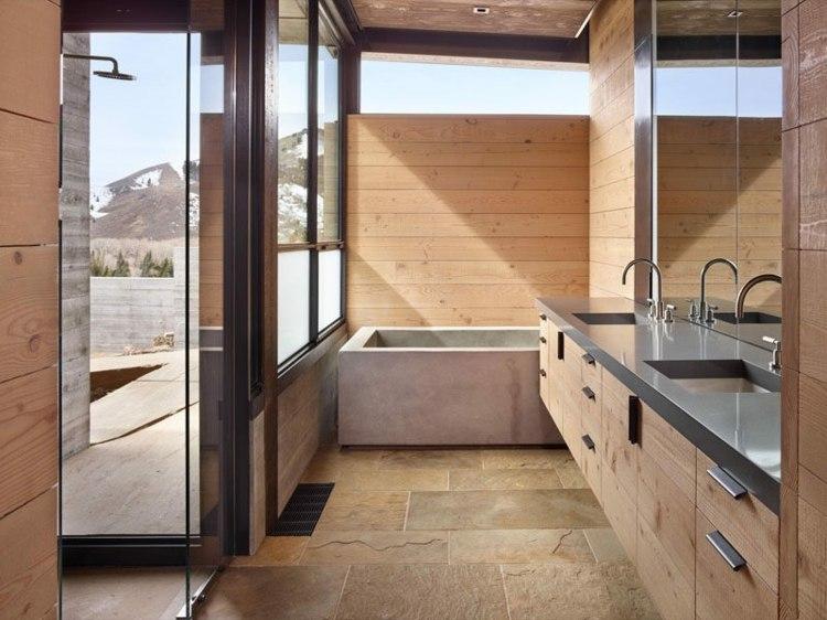 baños modernos suelos madera