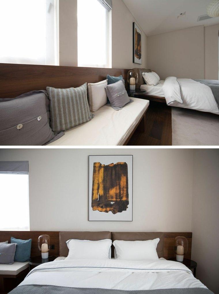 Dormitorio principal con una cabecera