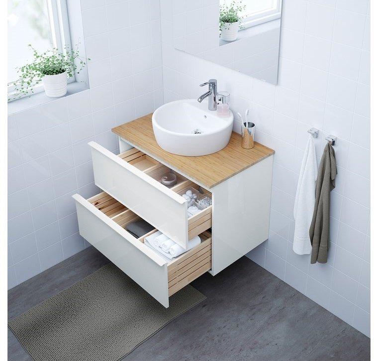Ikea lavabos con mueble cool mueble de lavabo modelo for Mueble lavabo pedestal ikea