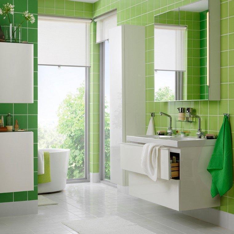 bano-verde-opciones-originales-disenos-modernos