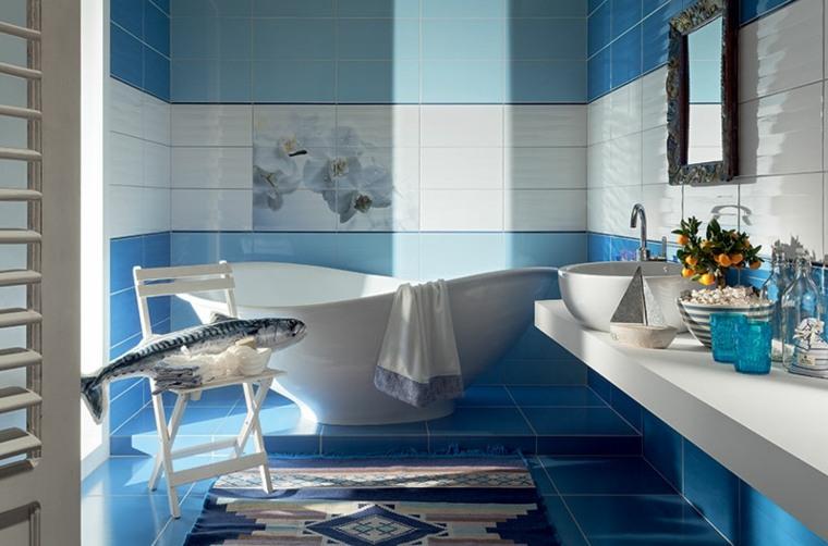 banos modernos-azules-muebles-originales