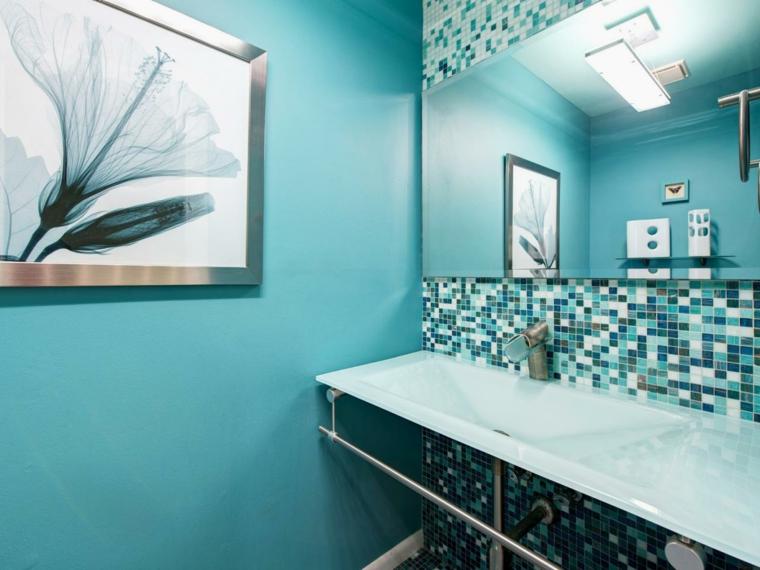 banos modernos-decoracion-azul