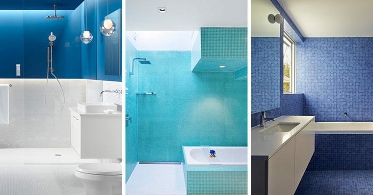 banos modernos-tonos-azules-paredes