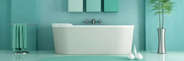 banos pequenos modernos-color-azul
