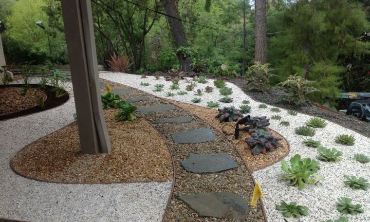 Landscaping with stones and gravel