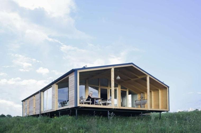 cabaña de estilo minimalista