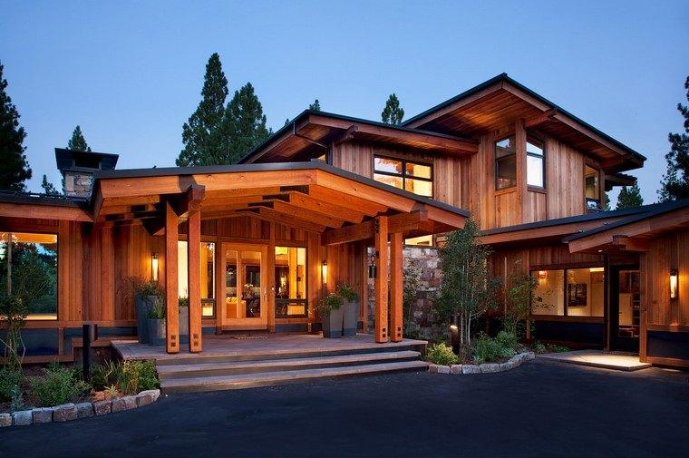 casas de madera-estilo-grandes-estilo-moderno