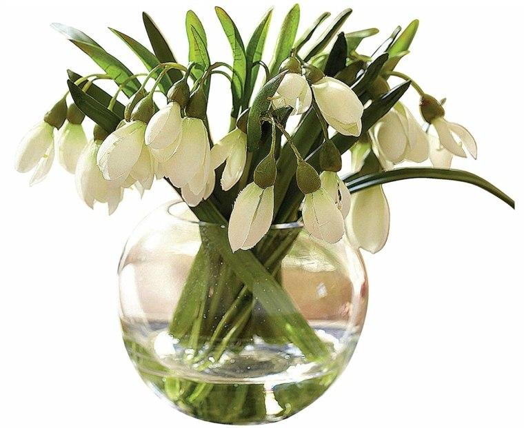 centros de mesa con flores artificiales-agua
