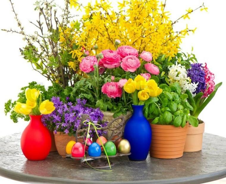 centros de mesa con flores artificiales-decorar