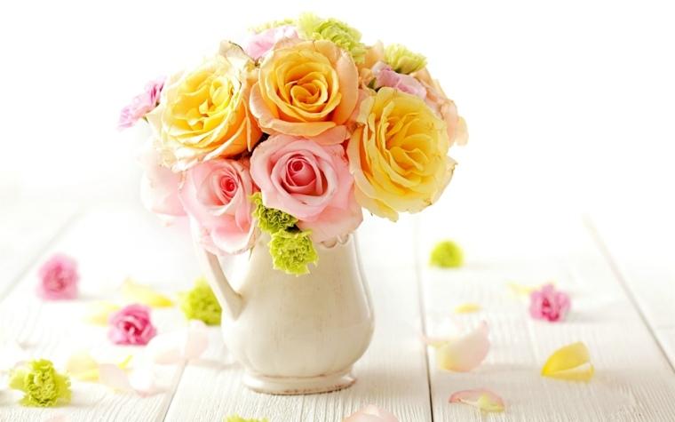 centros de mesa con flores artificiales-interior