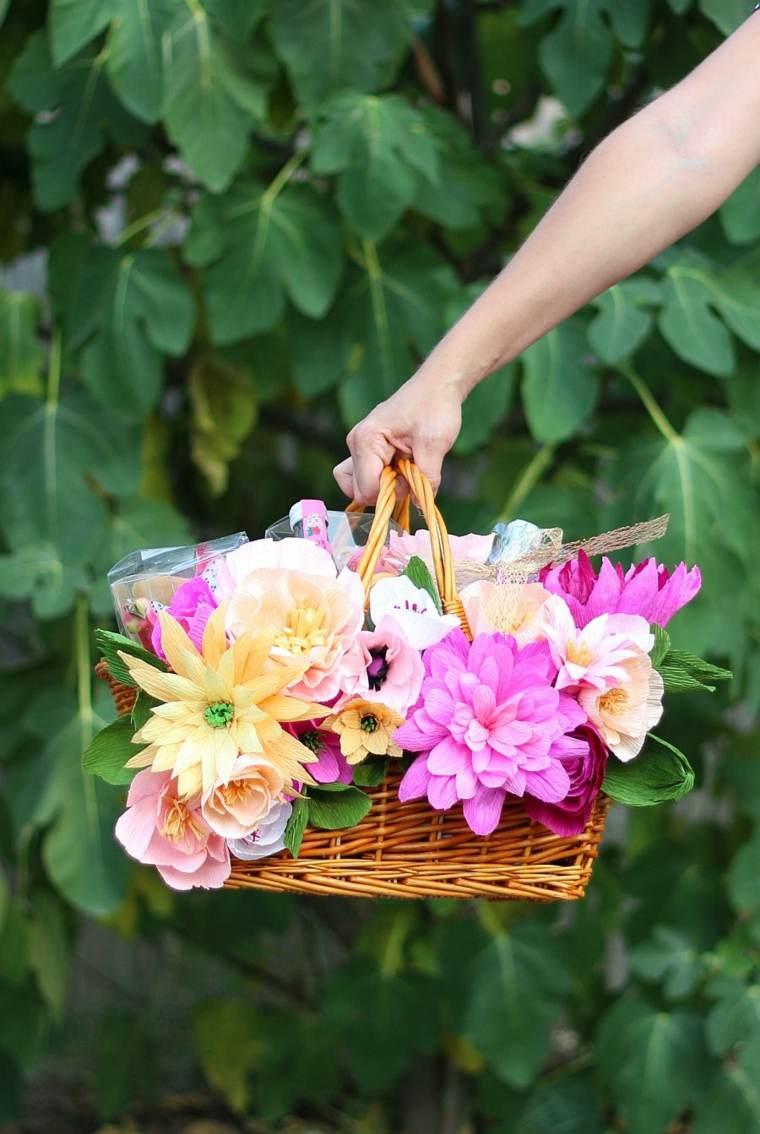 cesto-de picnic con-flores
