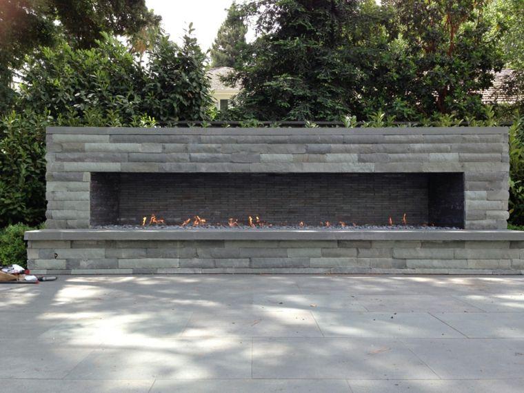 chimeneas modernas-decoracion-jardines