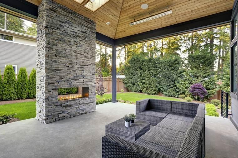 chimeneas modernas-decoracion-moderna-exterior