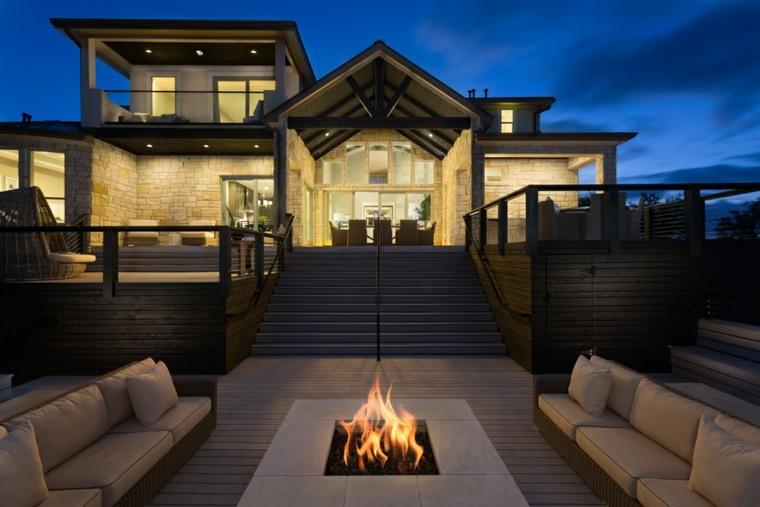 chimeneas modernas-exteriores-elegantes