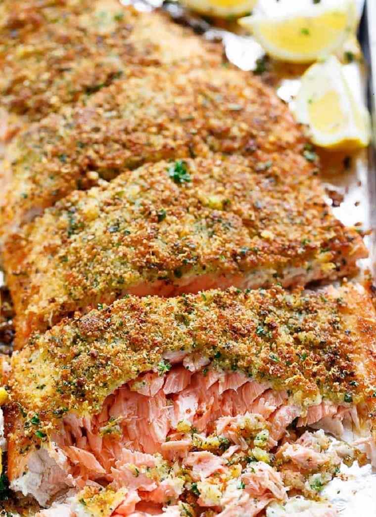 como cocinar salmon de manera r pida con parmesano