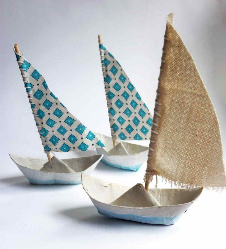 como hacer manualidades-barcos