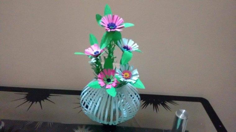 como hacer manualidades-flores