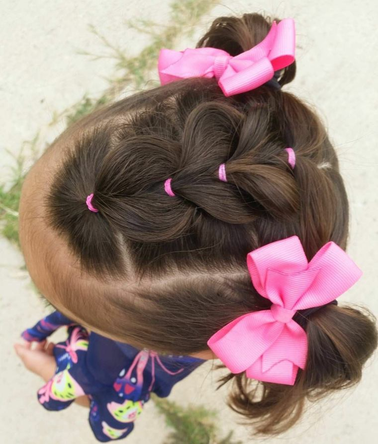 como hacer peinados para ninas-lazos