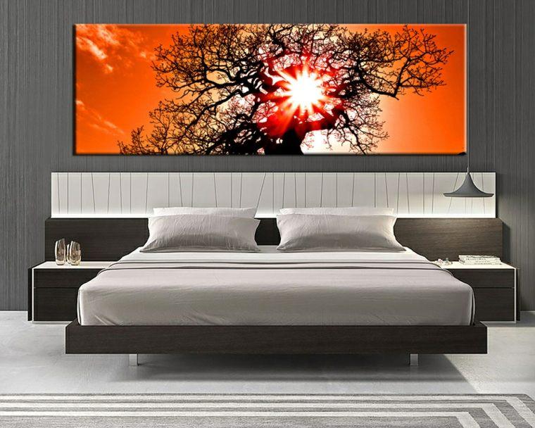 cuartos modernos-acentos-naranjas