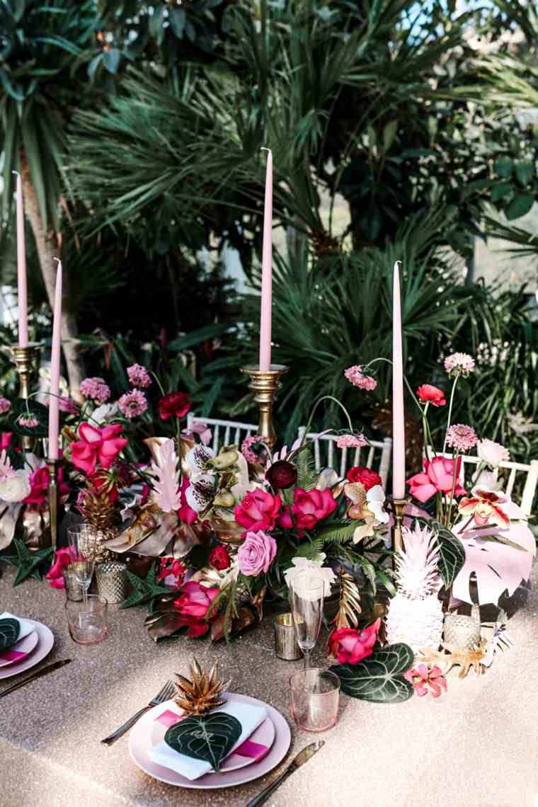 decoracion-boda-estilo-tropical-uso-color-rosa
