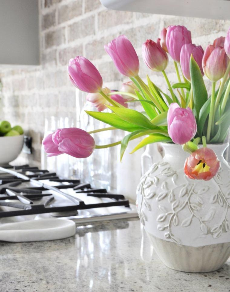 decoracion con flores-interiores-primavera