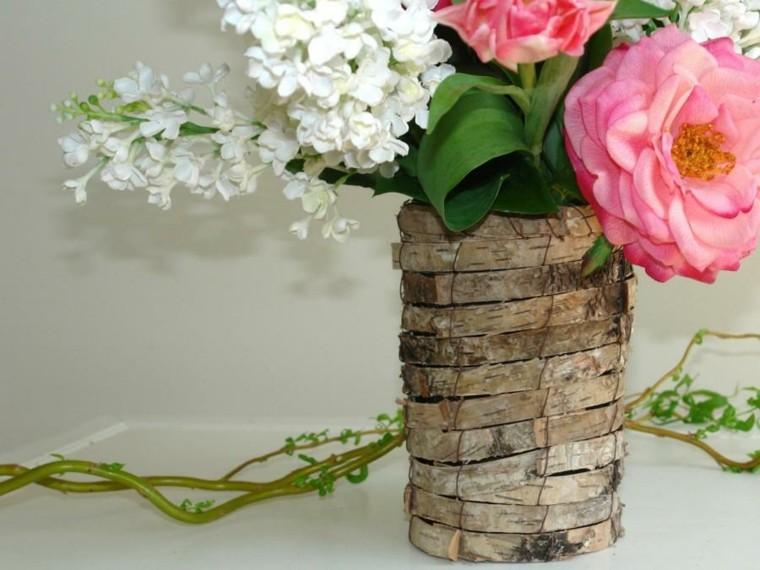 decoracion con flores-jarrones-mesa