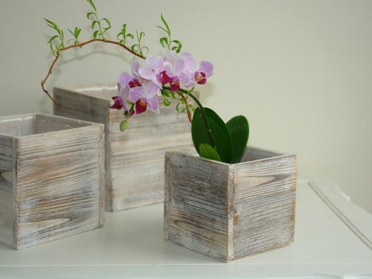 decoracion con flores-macetas-pequenas