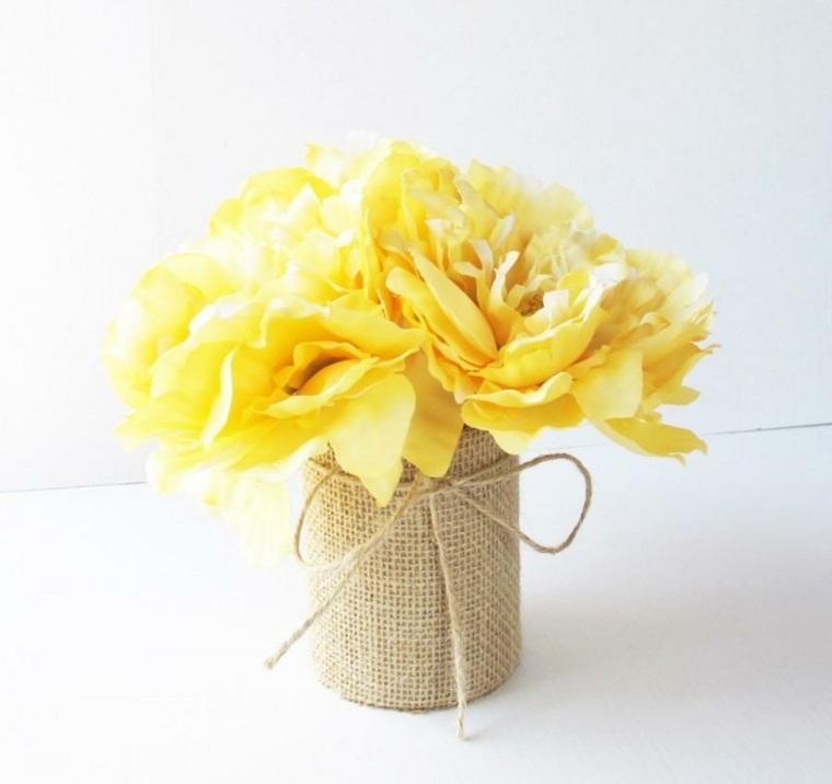 decoracion con flores-mesas-primavera