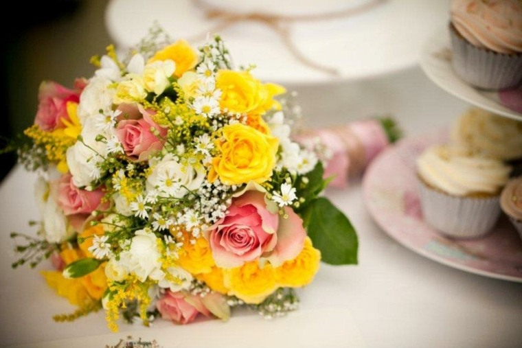 decoracion de flores-amarillas-ramos-bodas