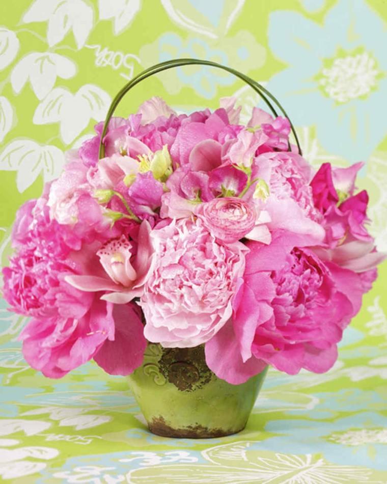 decoracion de flores-cesta-interior