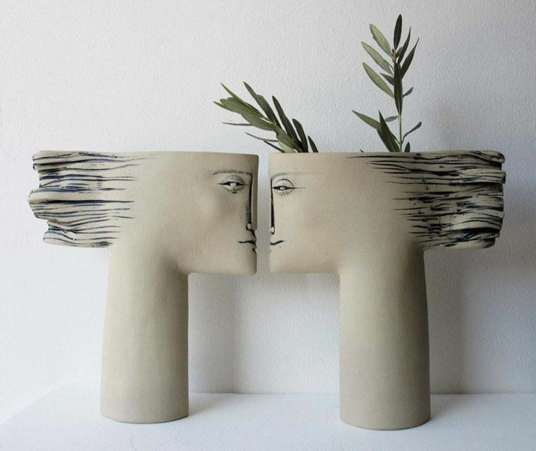 decoracion de flores-jarrones-modernos-interior