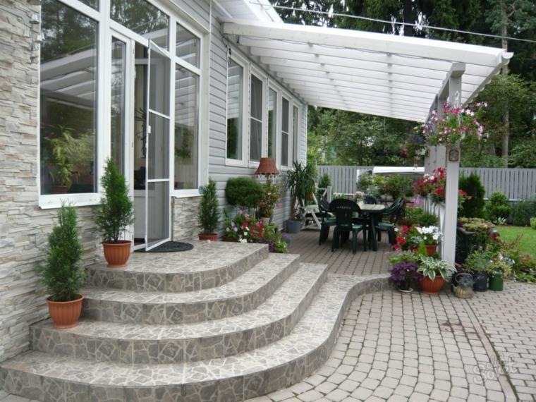 decoracion de jardines-escaleras-hormigon