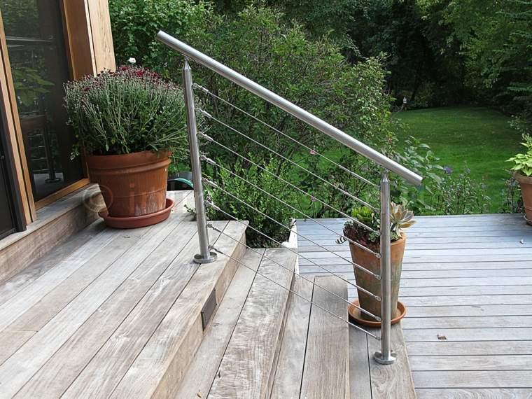 decoracion de jardines-escaleras-madera