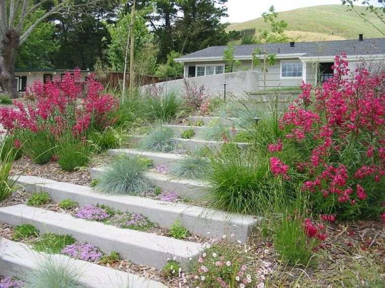 decoración jardín-ideas-escaleras-opciones-interesantes