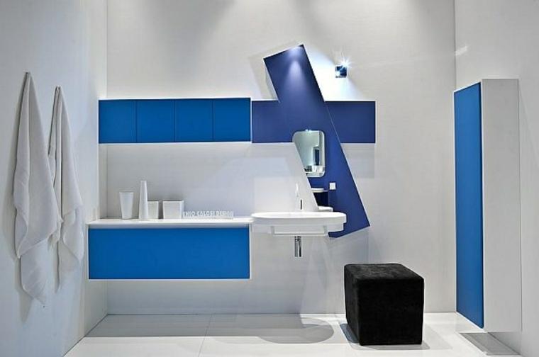 decoracion para banos-acentos-azules