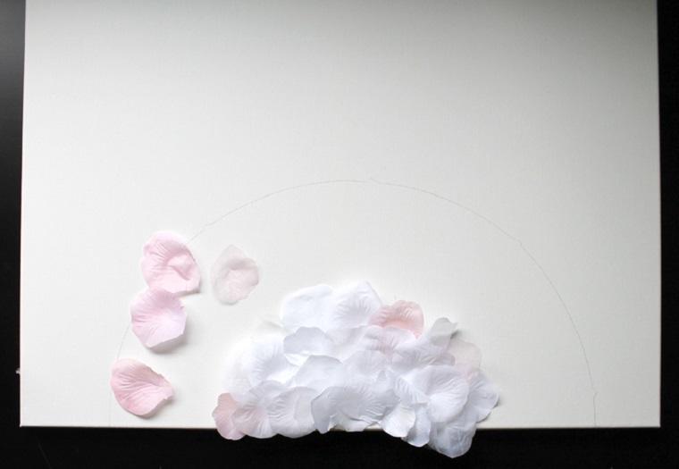 decoracion-pared-cuadro-petalos-rosa-elaboracion