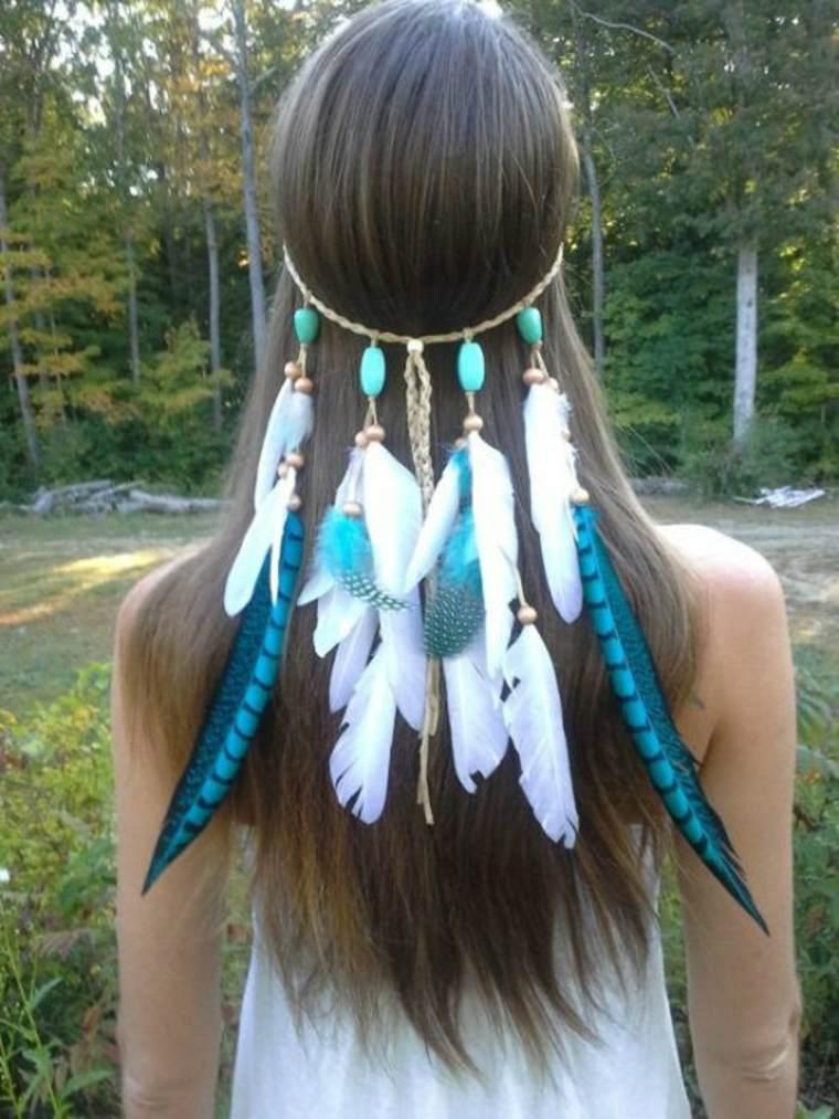 Moda de los indios nativos americanos - una original diadema