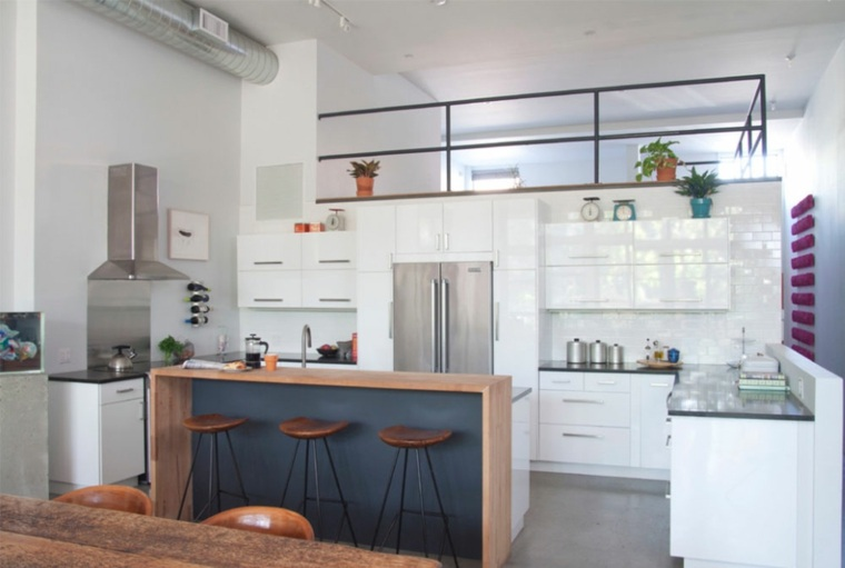 conjunto de gabinetes de cocina modernos