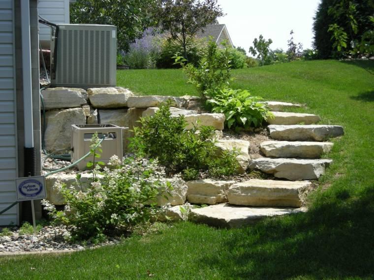 Dise o de escaleras exteriores para jardines modernos for Ideas de jardines exteriores