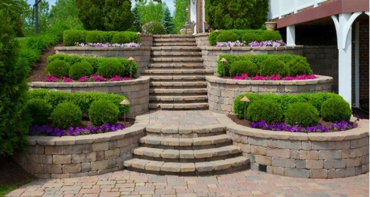 Dise o de escaleras exteriores para jardines modernos for Escaleras para caminar fuera del jardin