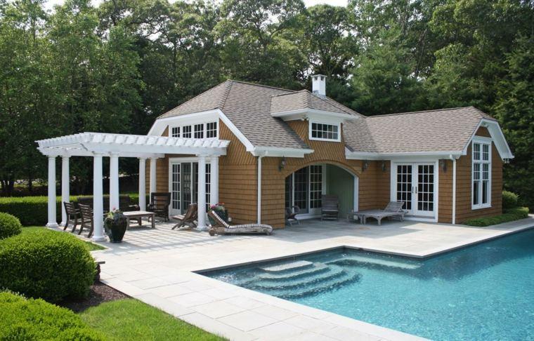 diseño de jardines modernos-pergola-grande-color-blanco