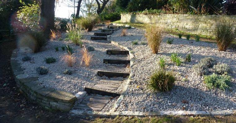 ideas de diseño de jardines con grava